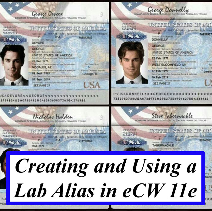 Creating and Using a Lab Alias in eCW 11e