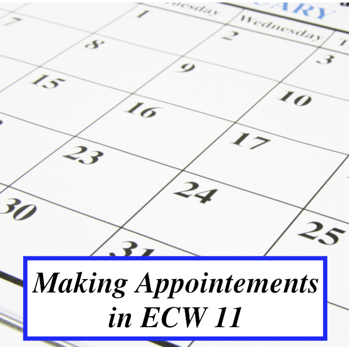 Making an Appointment in eCW 11