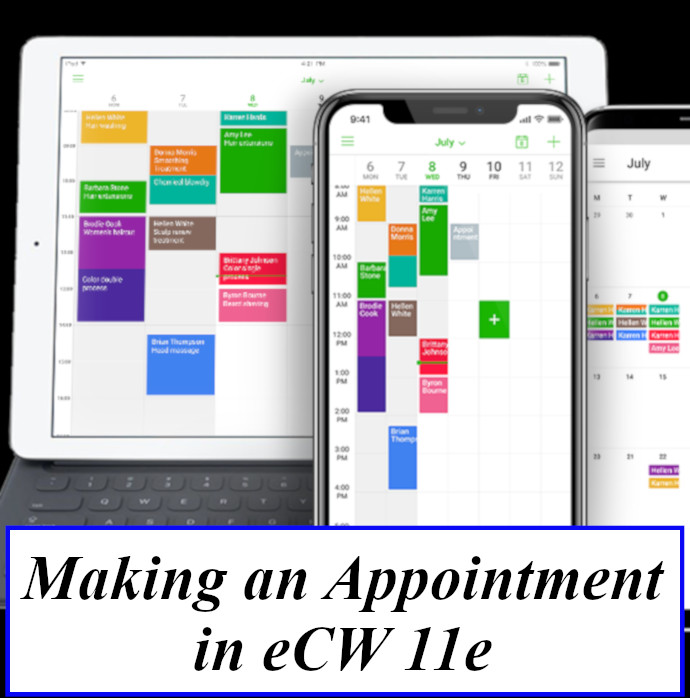 Making an Appointment in eCW 11e