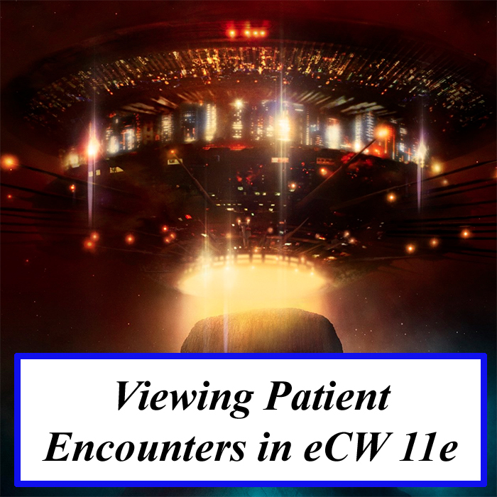 Viewing Patient Encounters in eCW 11e