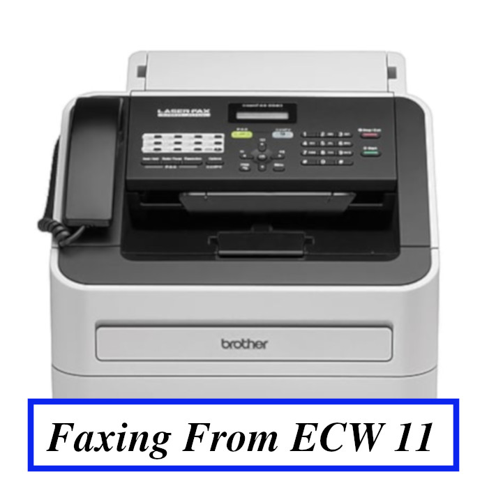 Faxing From eCW 11