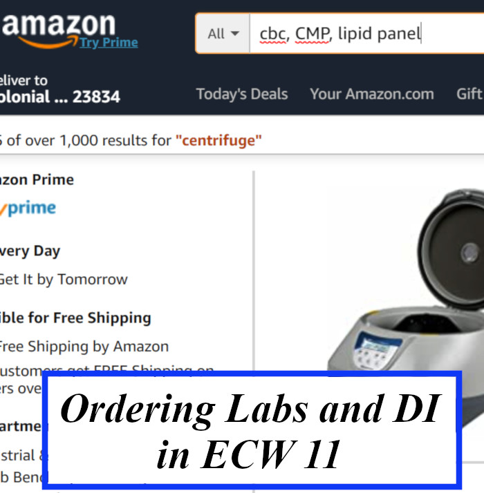 Ordering Labs and DI in eCW 11