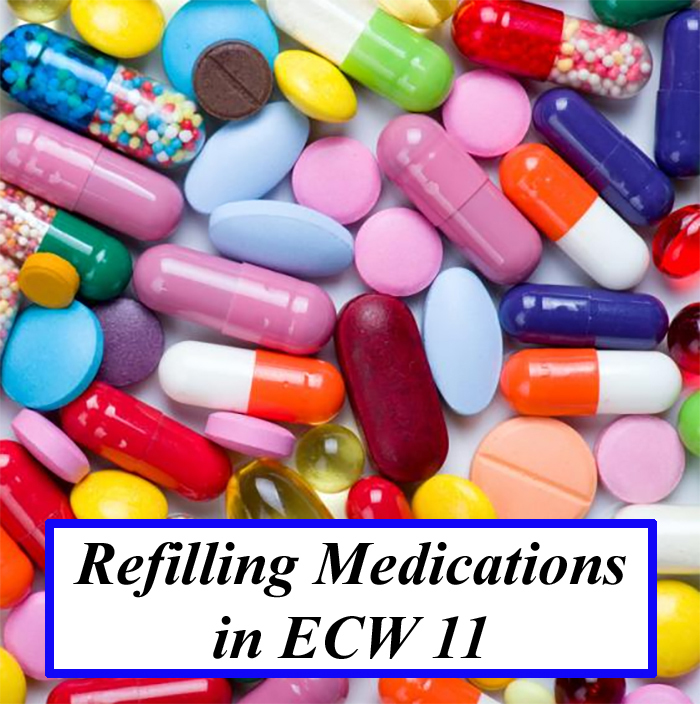 Refilling Medications in eCW 11