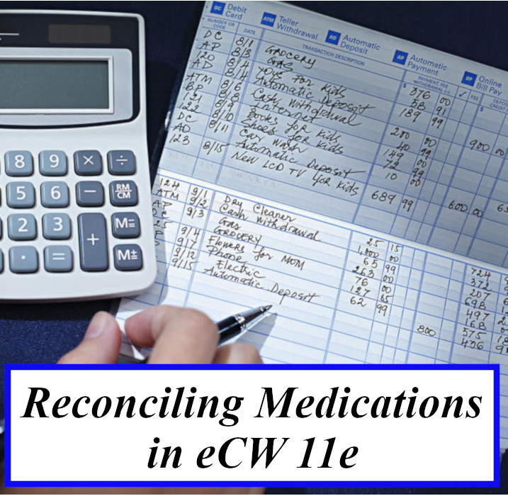 Reconciling Medications in eCW 11e