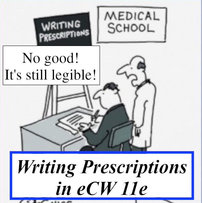 Writing Prescriptions in eCW 11e