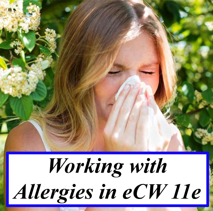 Working with Allergies in eCW 11e
