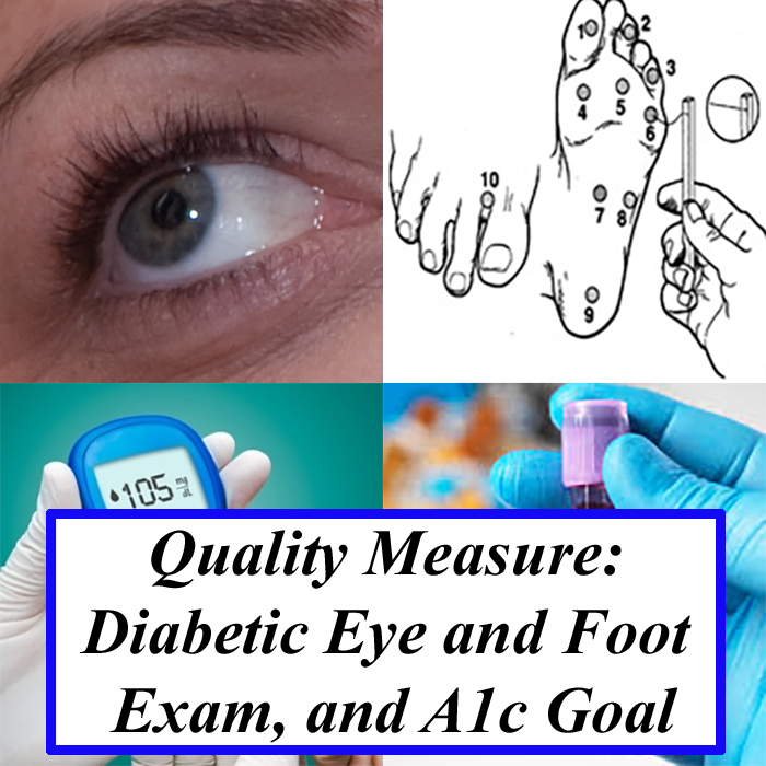 Quality Measure: Diabetic Eye and Foot Exam, and A1c Goal